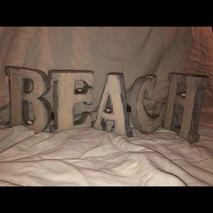 Beach Folding Sign